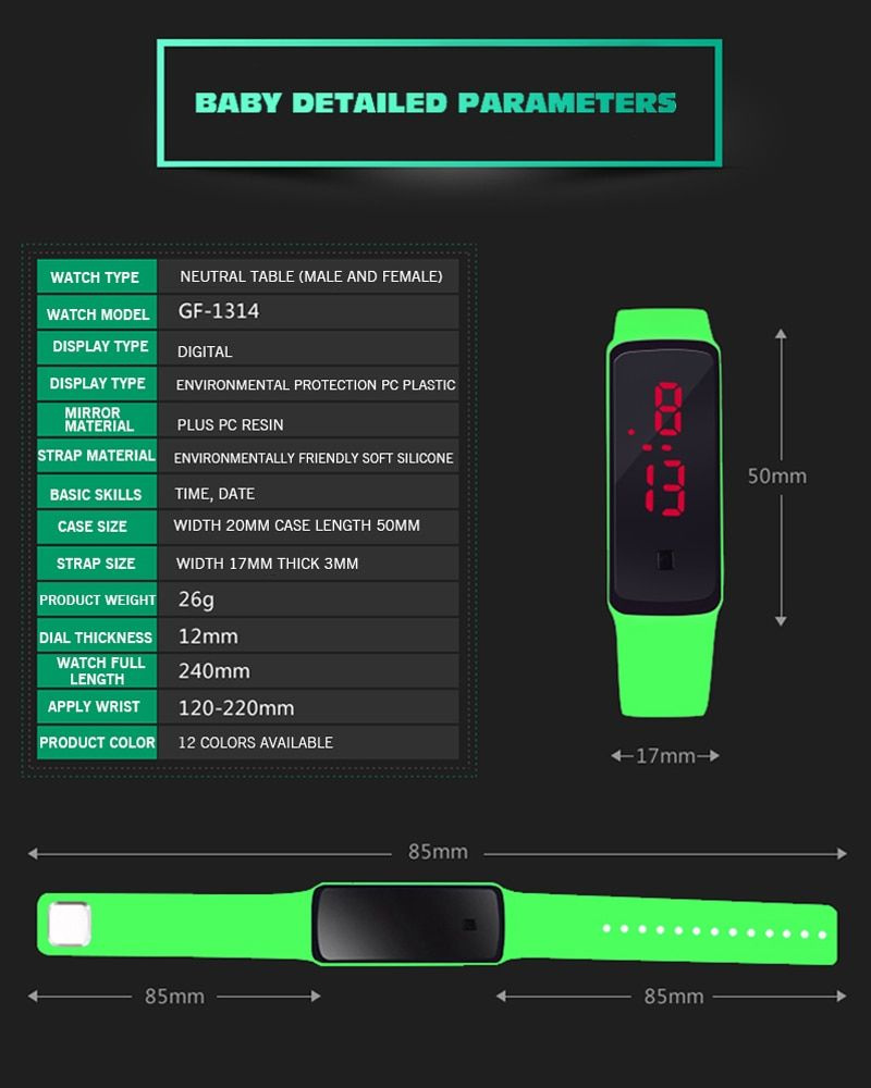 fbe04274a Sold 6466034780 items Brand Casual Outdoor Silicone Girl Women Watches  Fashion Red LED Digital Sports Bracelet