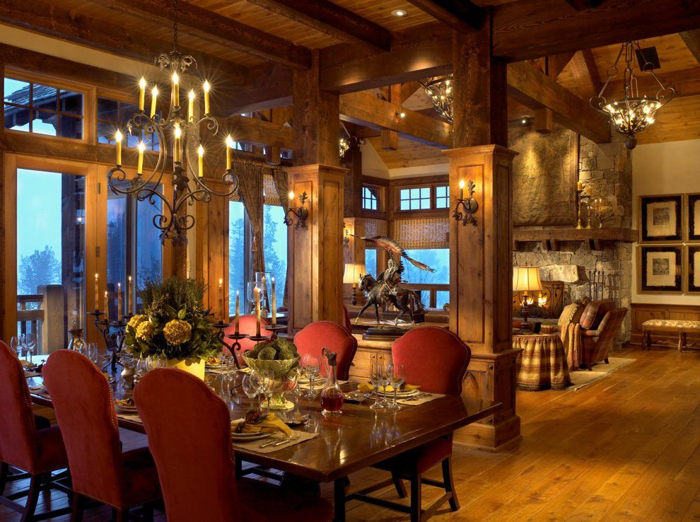 Transitional Great Room Decorating Ideas Dining Room Rustic With Prepossessing Traditional Dining Room Chairs Decorating Design