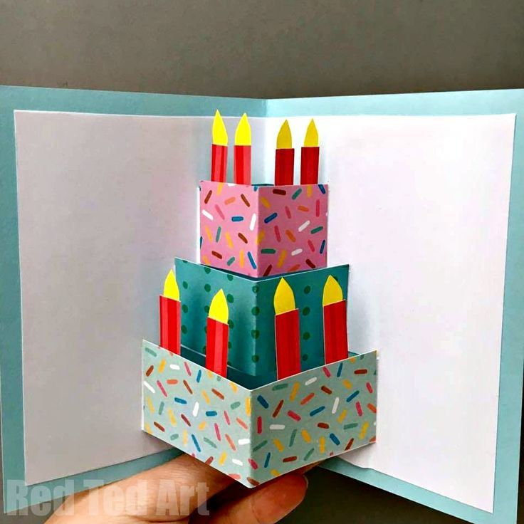 Easy Pop Up Birthday Card Diy Love This Diy Birthday Cake Card