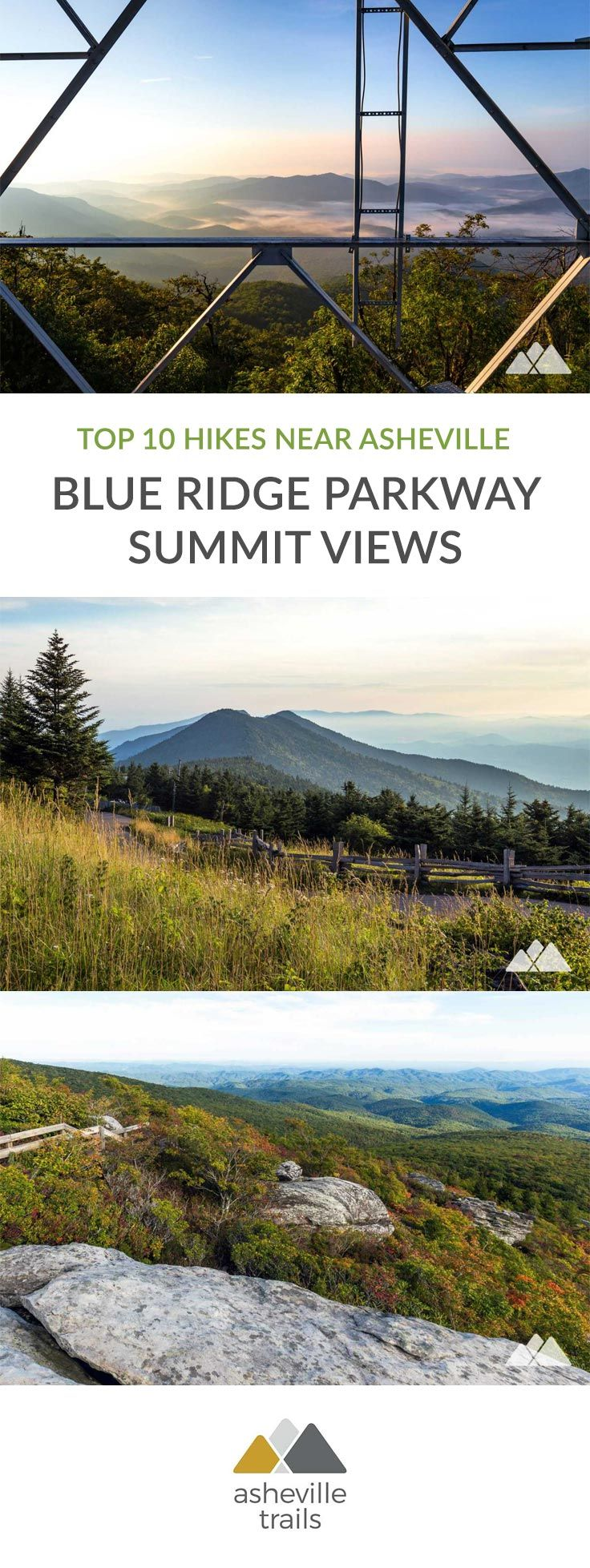 Asheville Blue Ridge Parkway: top 10 favorite hikes to summit views