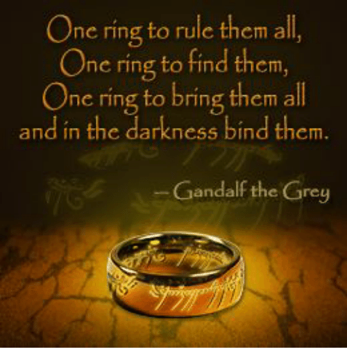 One Ring To Rule Them All Quote Page Number One Ring To Rule Them All One Ring To Find Them One Ring To Bring Them All And In The Darkness Bind Them Ga Memorable Quotes Gandalf The Grey Lord Of