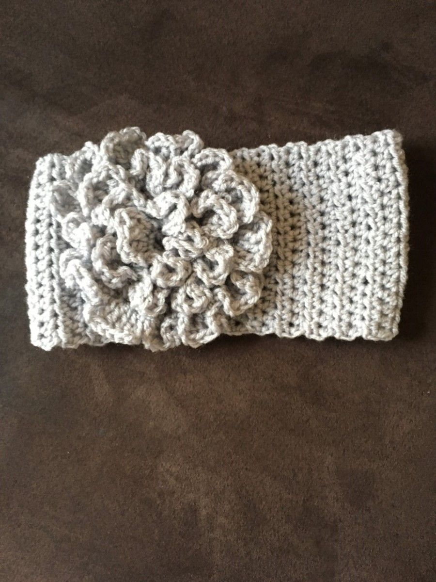 headband with flower | Crochet projects | Pinterest | Ganchillo