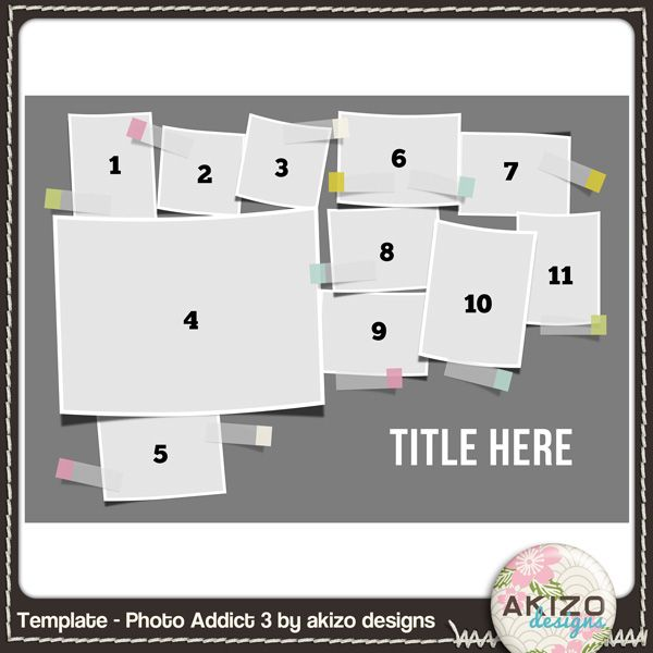 Template -Photo Addict 3 free digital scrapbooking page template ...