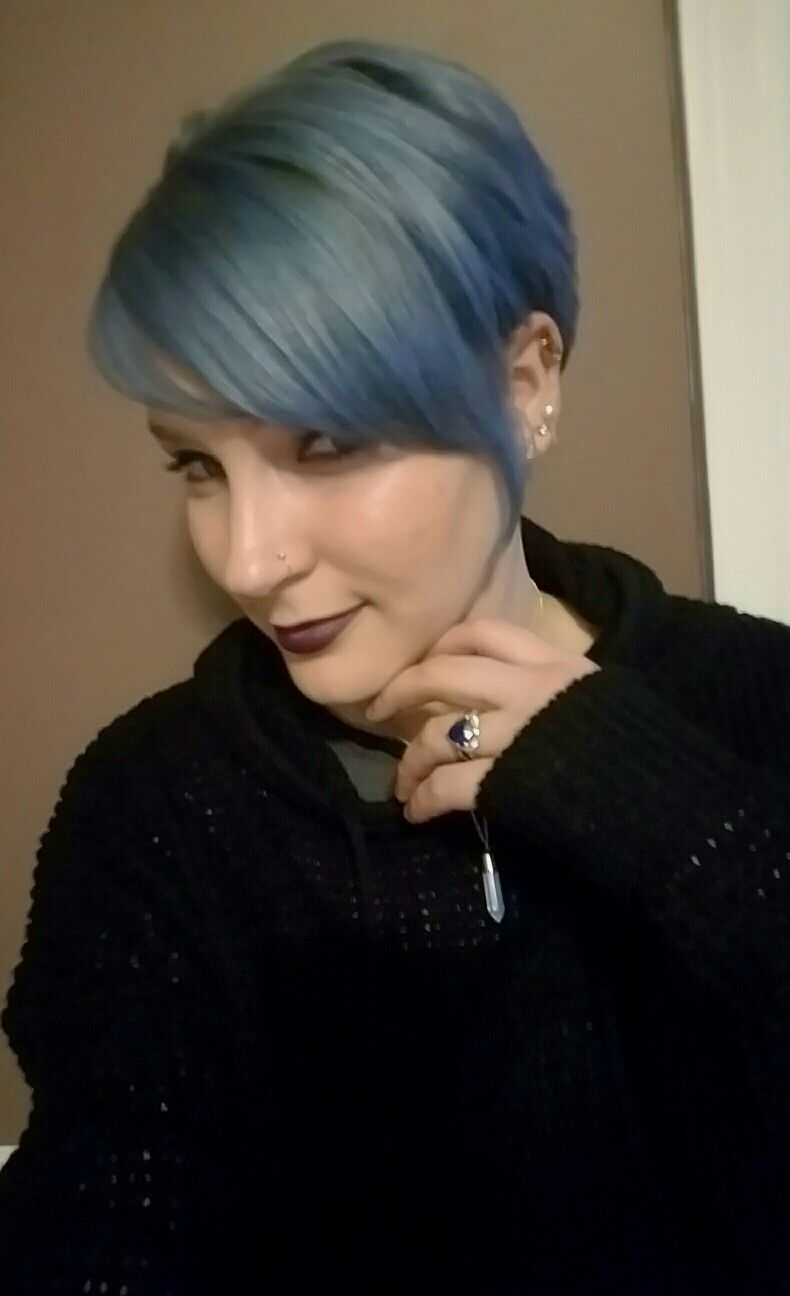 Shark Blue Ion Color Brilliance Pixie Cut Hairstyle Pinterest