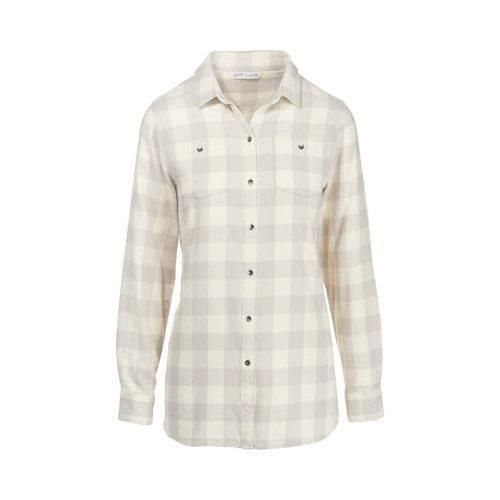 Women's Woolrich Buffalo Check Boyfriend Shirt Gray Check