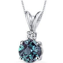 Alexandrite pendant necklace 14 karat white gold round 235 cts alexandrite pendant necklace 14 karat white gold 125 cts p8982 top aloadofball Choice Image