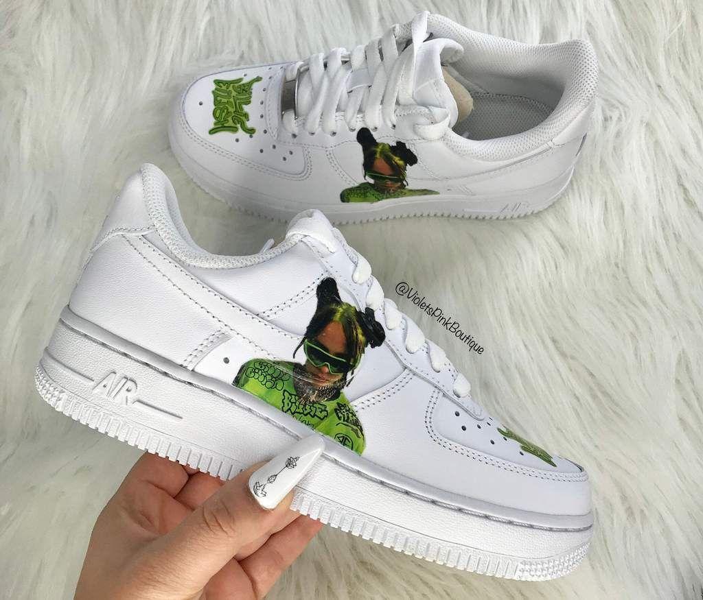 Custom Nike Air Force 1s Billie Eilish