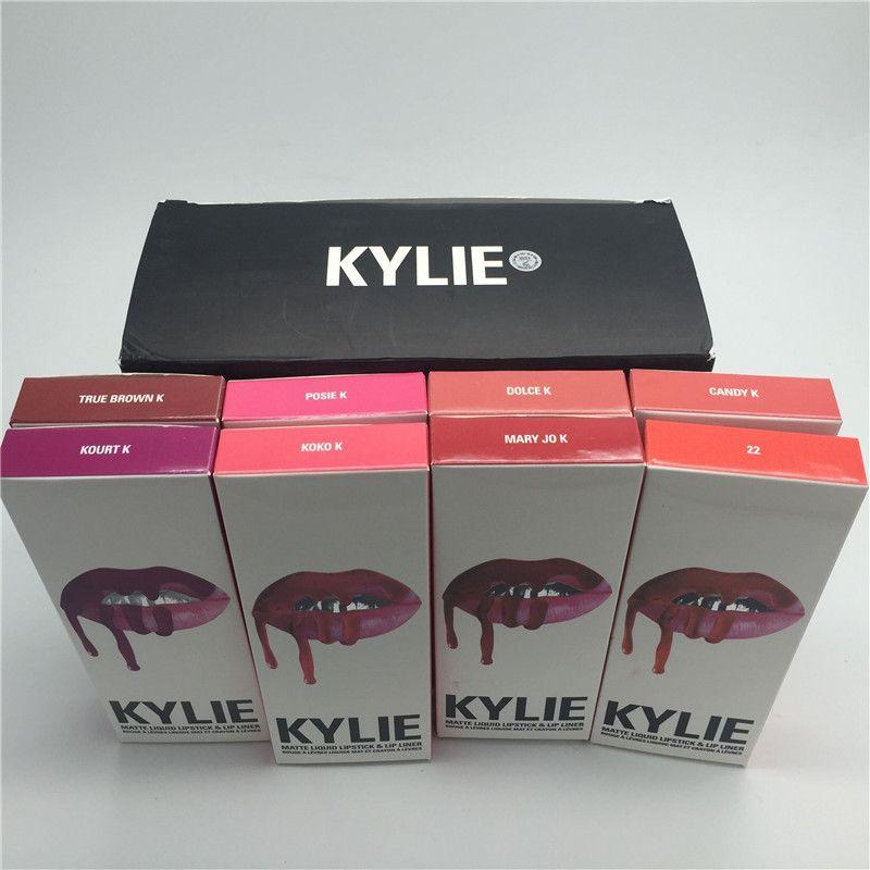 2pcs/lot Fashion Women Kylie Jenner Lip Kit Set Kylie Jenner Lipstick Kylie Set Lip Gloss Matte Lipgloss Lipstick Lip Liner Set
