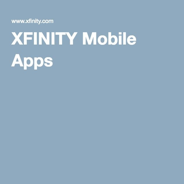 all Comcast/XFINITY Mobile Apps 201608 • TV / TV Remote