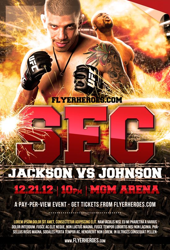 FreeMmaFightNightFlyer  Design    Fight Night