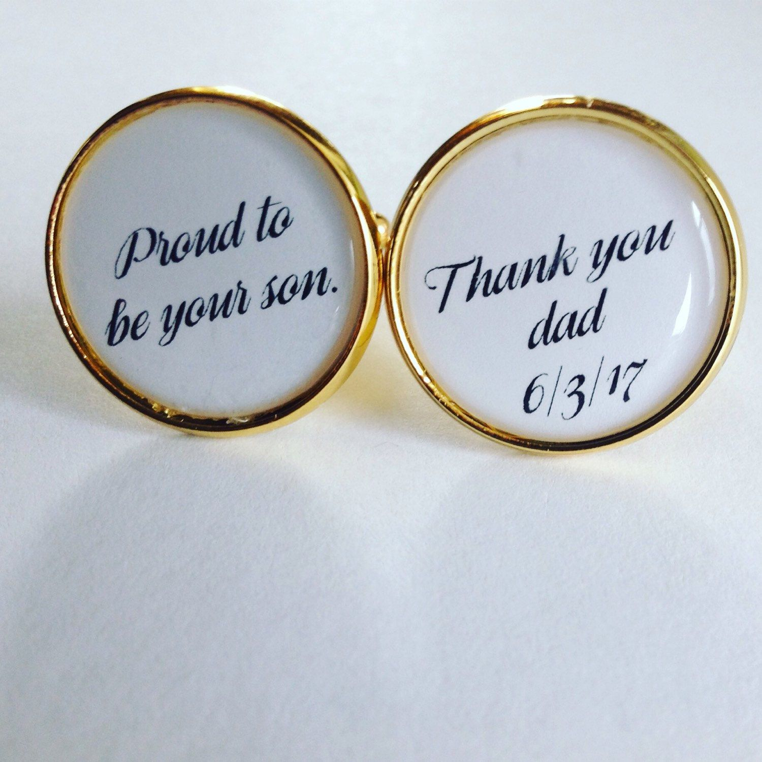 Wedding Date Cufflinks Wedding Keepsake Gift for Dad Father of the Bride Gift from Bride Father of the Bride Cufflinks Wedding Date Gift