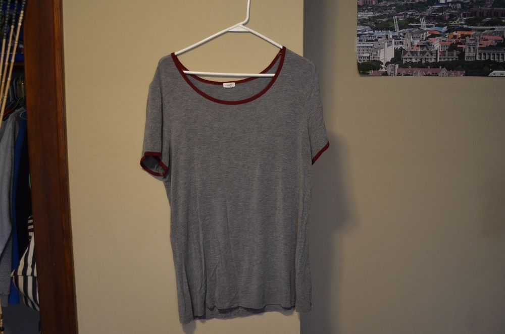 Garage Maroon And Grey Large T Shirt Fashion Clothing Shoes Accessories Womensclothing Tops Ebay Link T Shirts For Women Maroon Garage Clothing