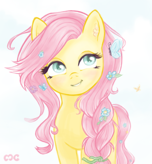 """i think this pretty much completes my """"fluttershy = rapunzel"""" theory"""
