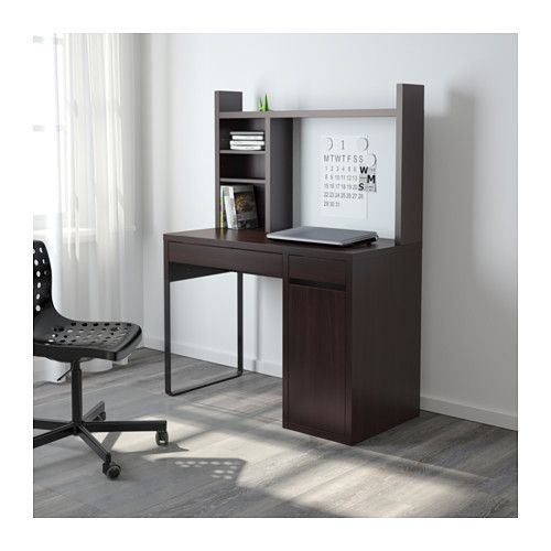 Micke Black Brown Desk 105x50 Cm Add To Cart Ikea Micke Desk Home Office Furniture Office Furniture Design