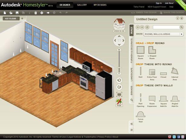 Awesome Free Kitchen Design Software Homestyler Also Kitchens Pinterest