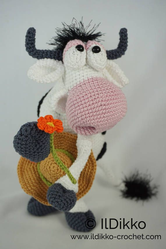 Amigurumi Crochet Pattern - Moo-na Lisa - English Version ...