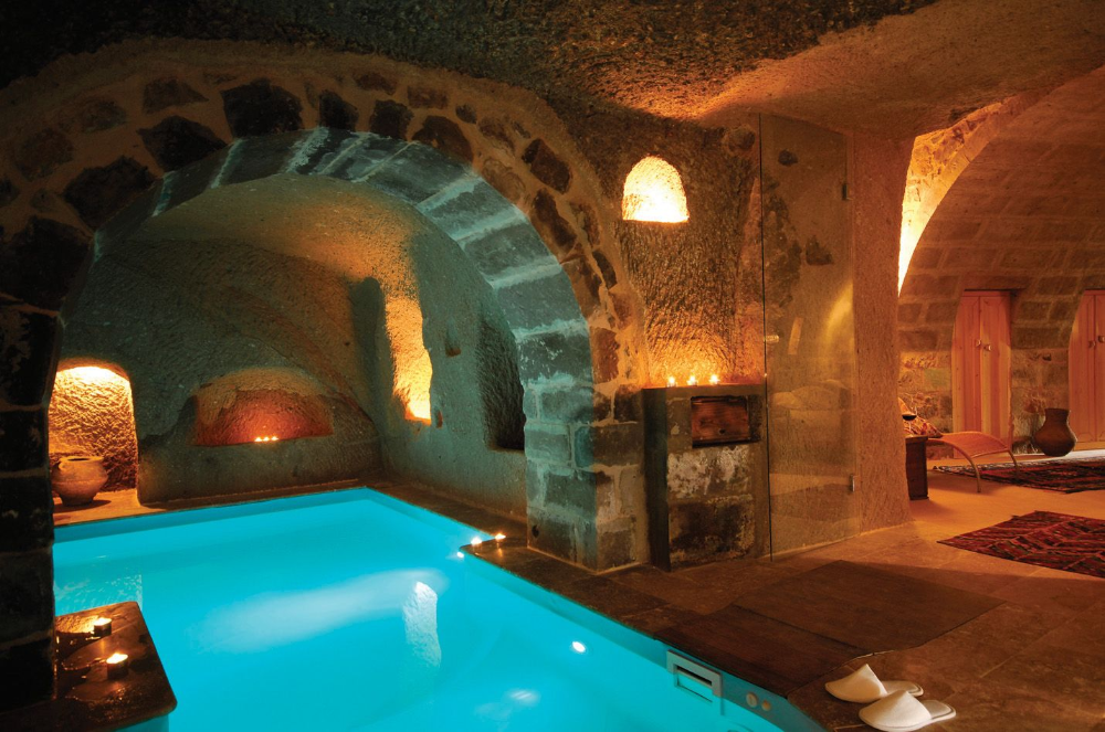 Pin By David Bugeja On Underground Pool In 2020 Cave Hotel Indoor Pool Cool Pools