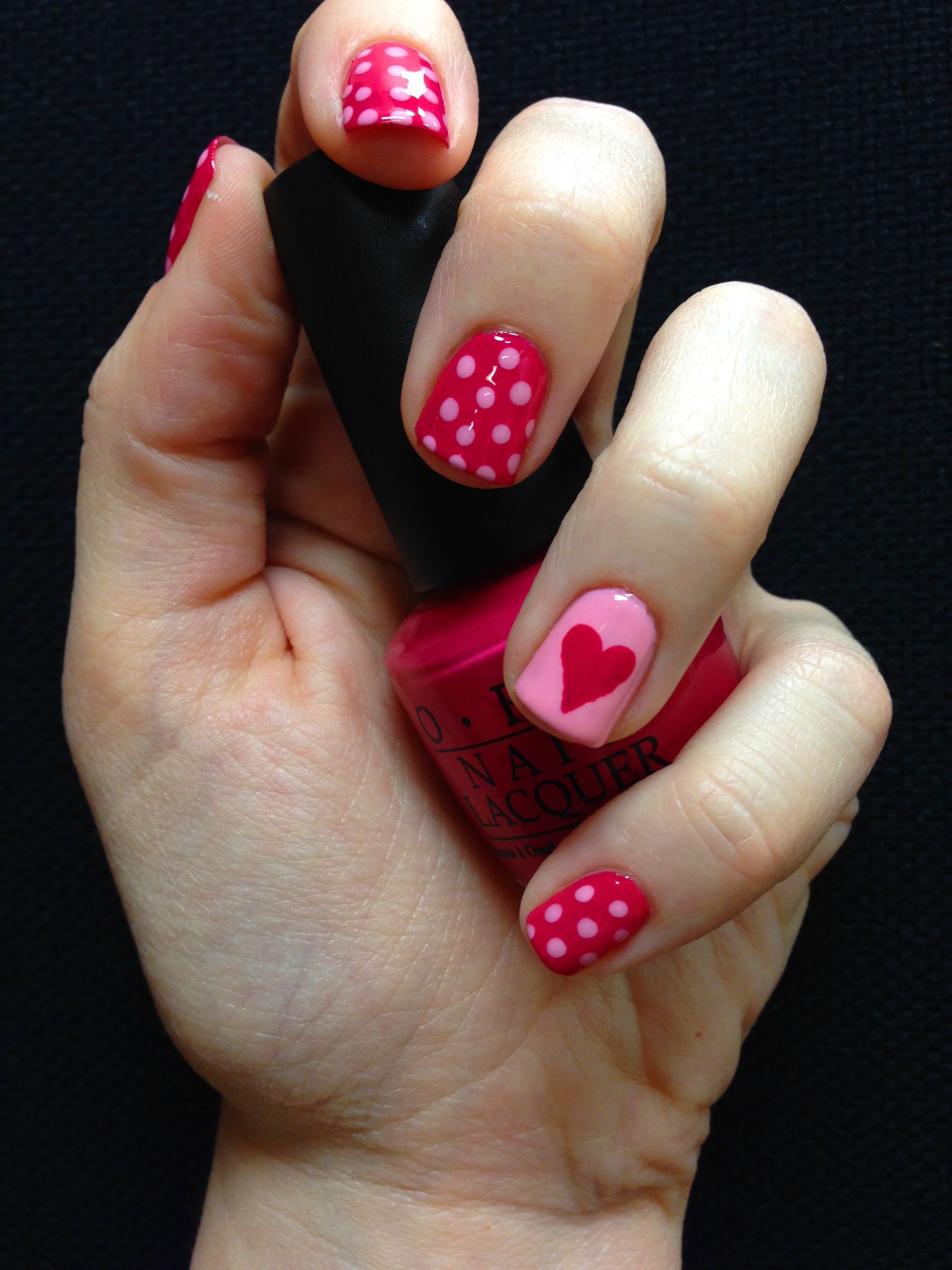 Cute Simple Valentine S Day Nails Imgur Nail Designs Valentines Valentine S Day Nail Designs Valentine Nail Art