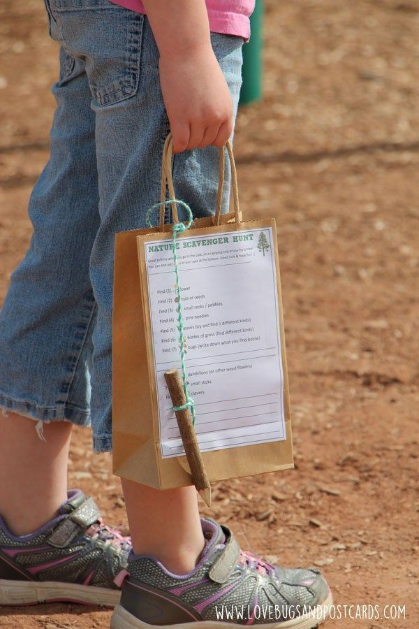 Photo of Free printable Nature Scavenger Hunt activity sheet for kids