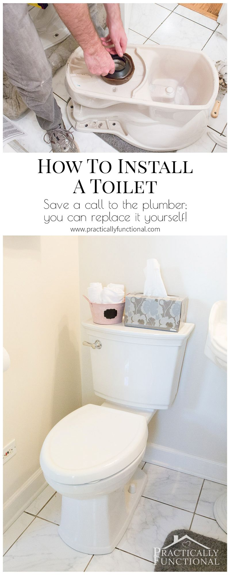 I Never Knew It Was This Easy To Install A Toilet Myself Great Tutorial Diy Home Repair Diy Plumbing Toilet