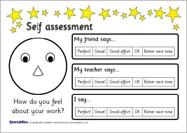 Super Simple Self Assessment Sheets Sb  Sparklebox