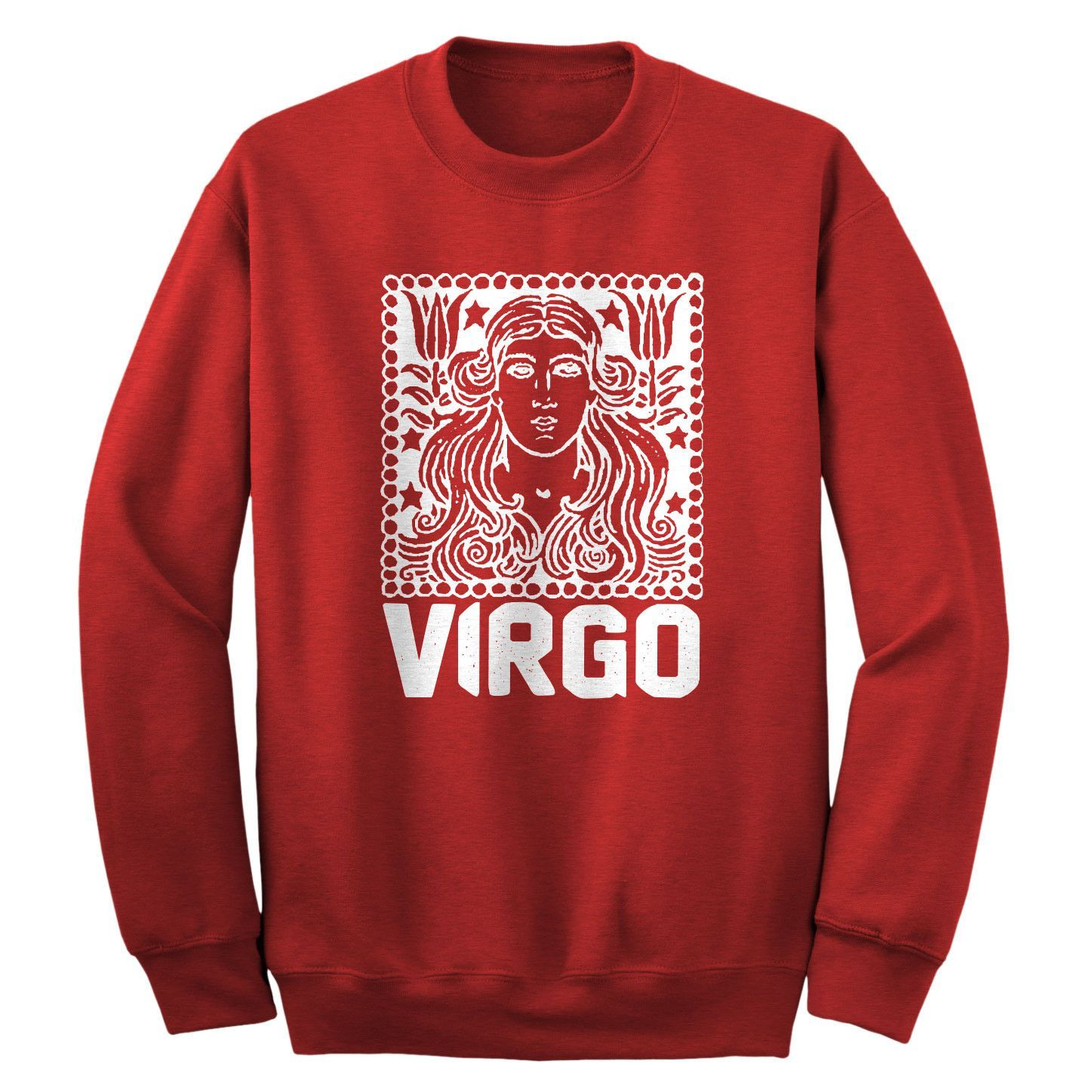 Virgo Zodiac Astrology Adult Crewneck Sweatshirt