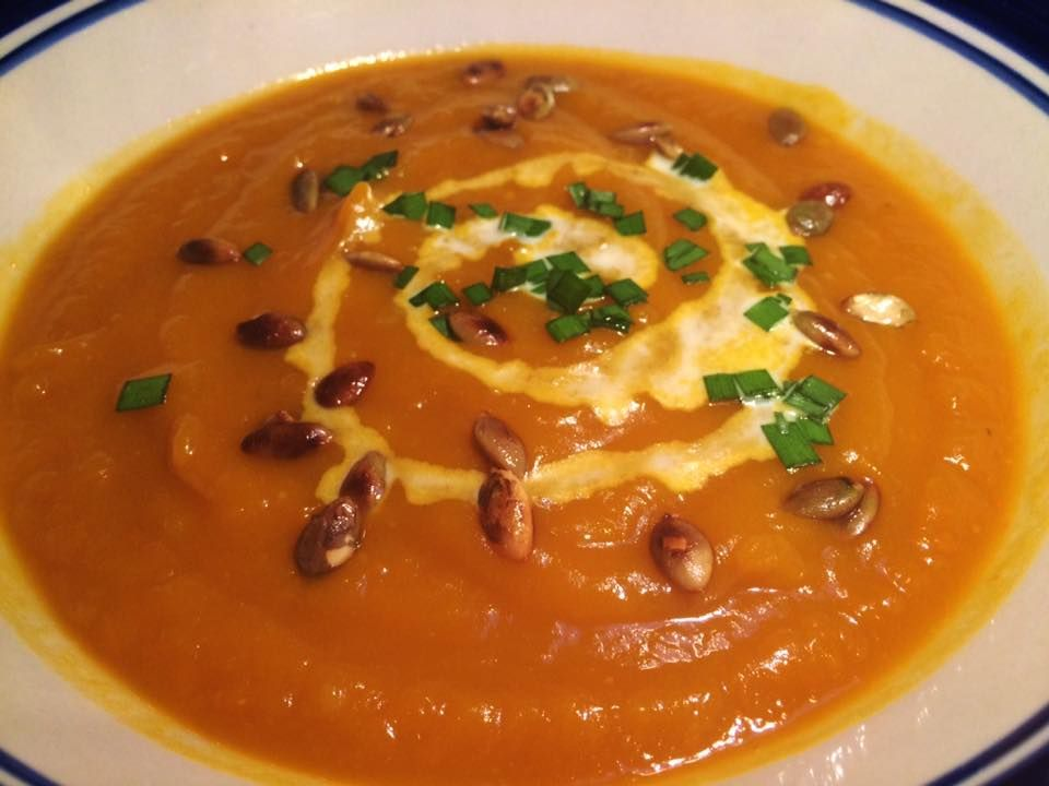 EmailTweet 3 Full-screen Classic Creamy Pumpkin Soup   8+ hrs, Soup June 10, 2015 Classic Creamy Pumpkin Soup 0 0 5 0 Prep: 20 mins Cook: 6 hrs 20 mins 6 hrs 6 hrs 20 mins Yields: Approx 4L Ingredients1 large peeled, seeded and chopped Jarendale pumpkin (you can also use butternut pumpkin instead) 1 large …