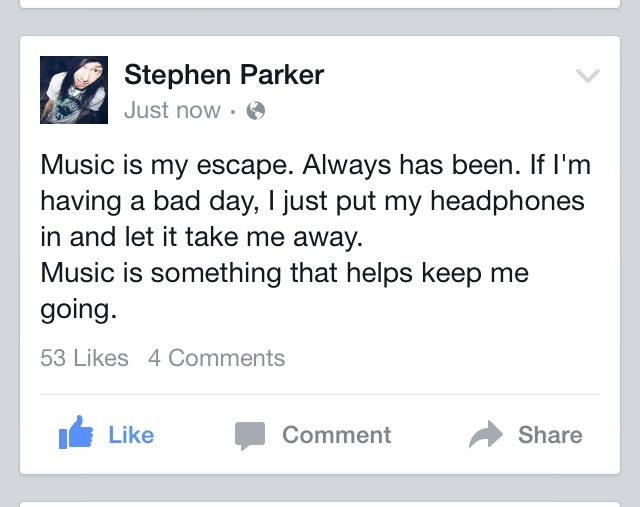Stephen Parker My Favorite Youtuber In The World Music Is My Escape