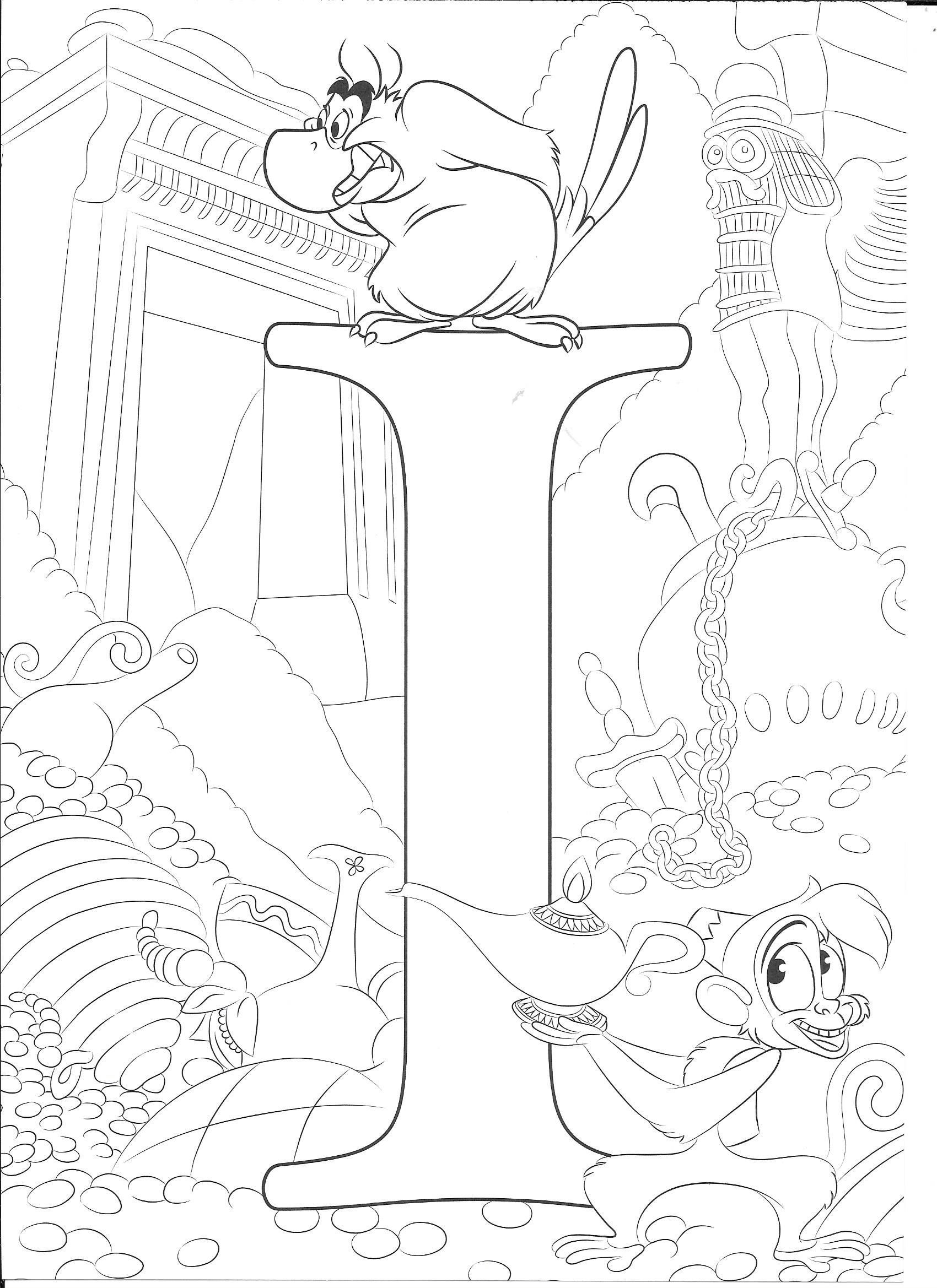 Coloring Page Disney Coloring Sheets Abc Coloring Pages Disney Coloring Pages