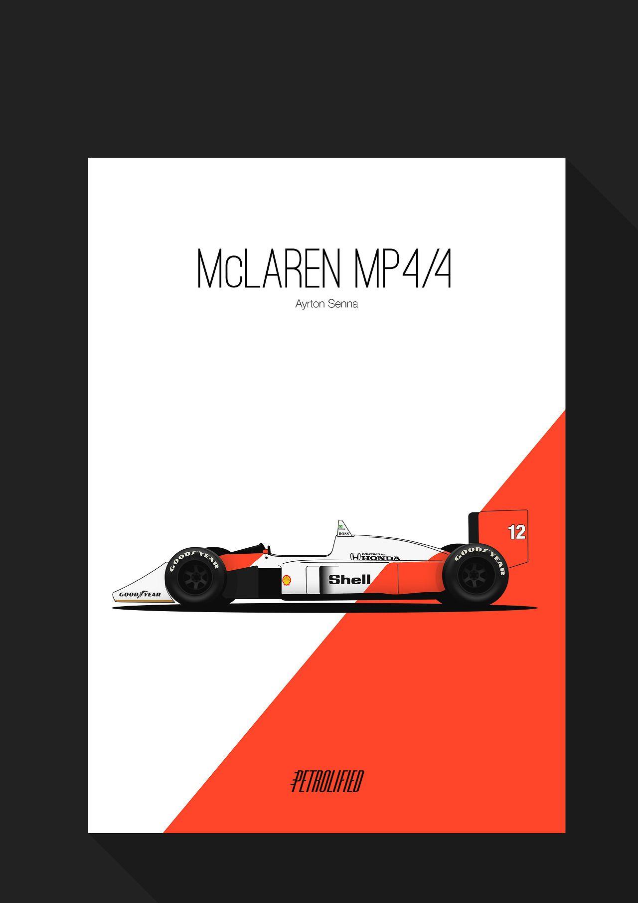 Ayrton S Mclaren Mp4 4 Soon Available Petrolified Desenhos De Carros Ayrton