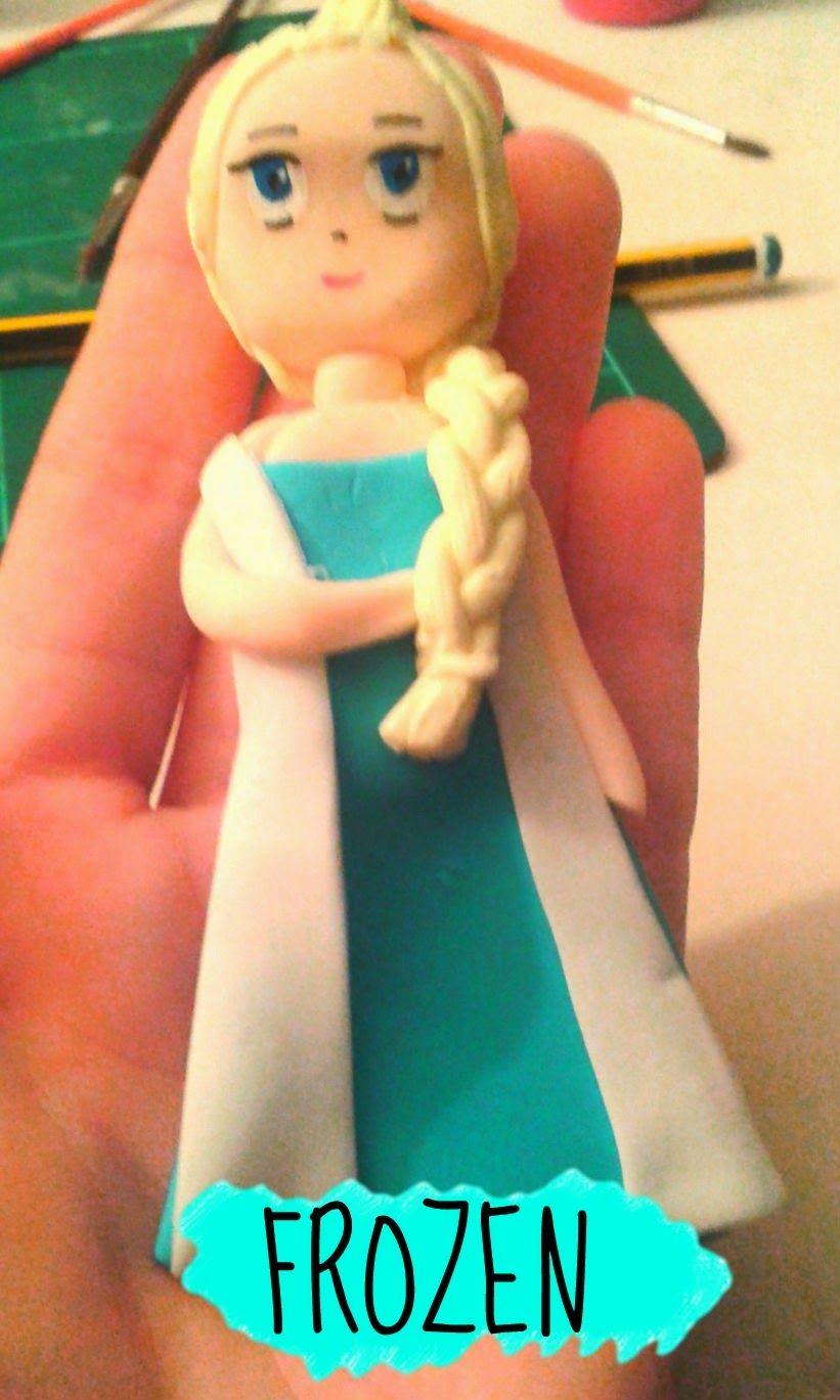 Elsa de Frozen en FIMO.