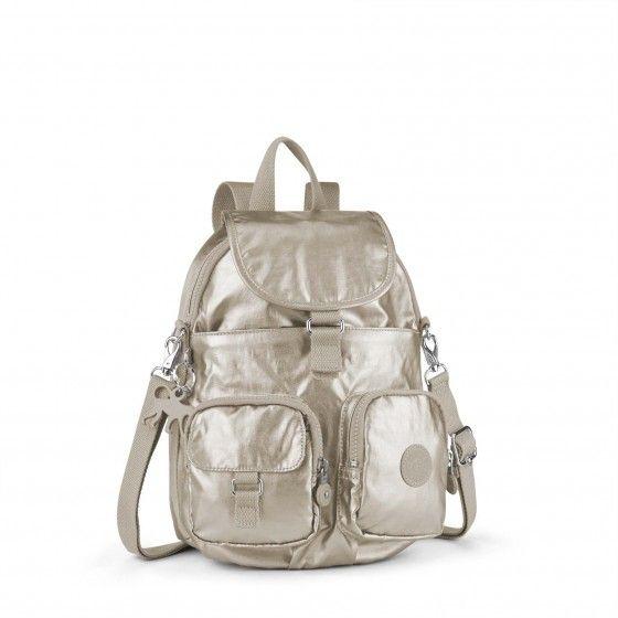 Kipling backpack Firefly silver beige