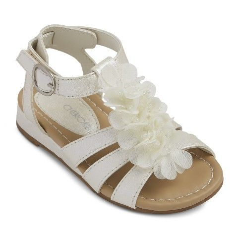 Toddler Girl's Cherokee® Dabney Sandals - Ivory | Baby girl ...