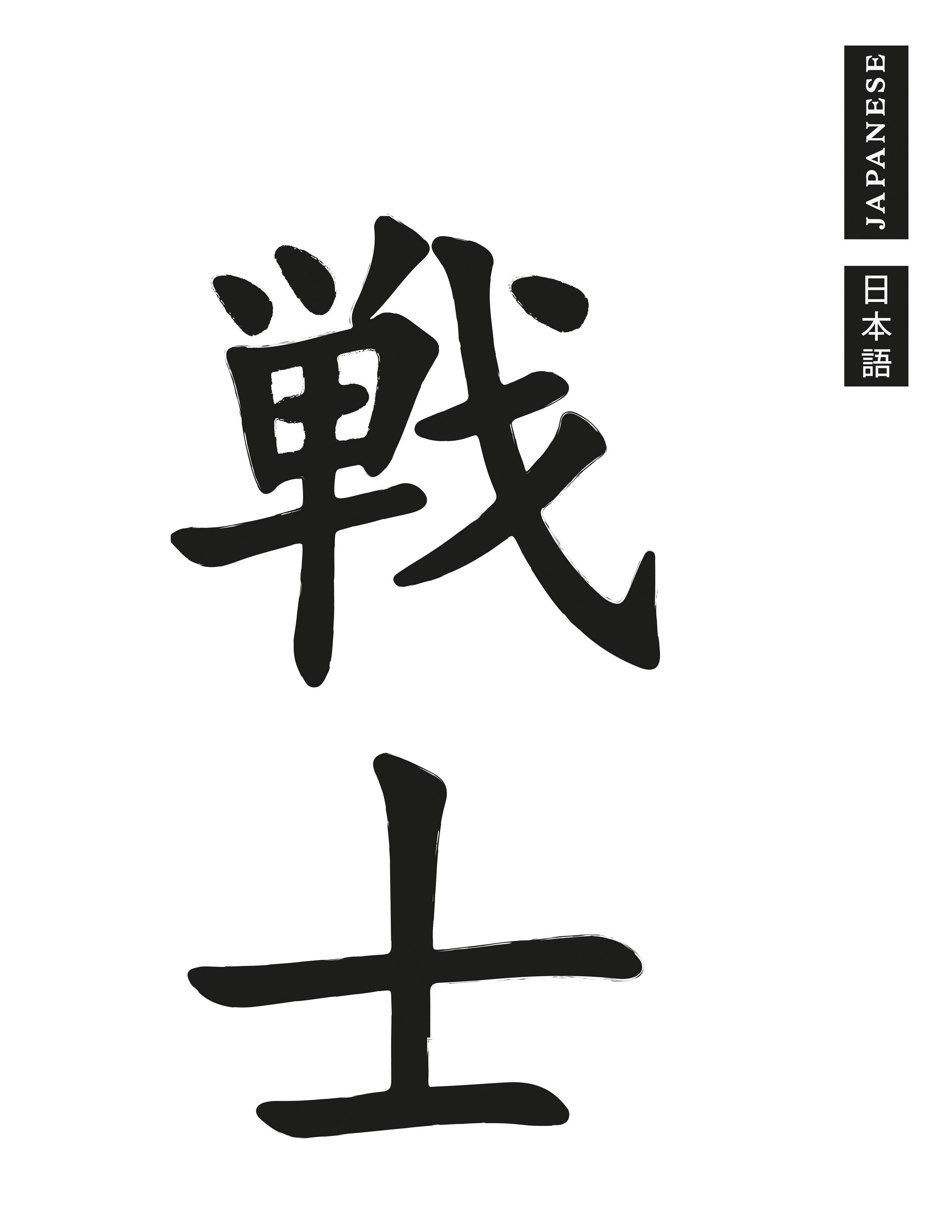 WARRIOR Kanji Japanese Vinyl Graphic Decal Car Bumper Sticker Chinese