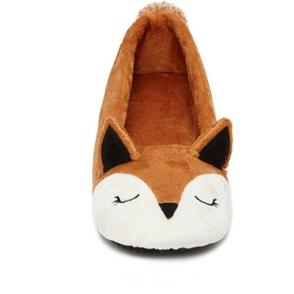 c7198313f69a Forever 21 Women s Fox House Slippers ( 8.90) ❤ liked on Polyvore featuring  shoes and slippers