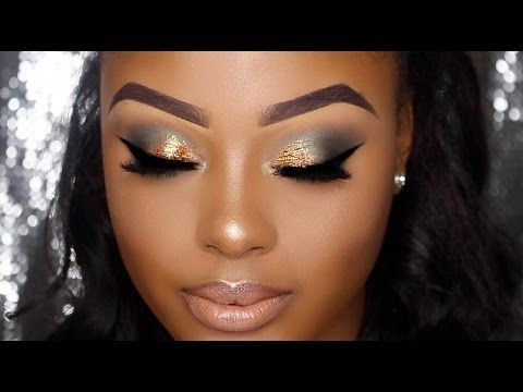 full glam neutral makeup tutorial for dark skin / women of