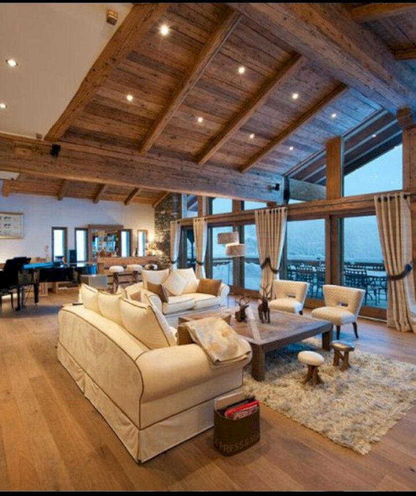 Salon Du Chalet Bois 46 gorgeous spacious chalet with warm and cozy ambience