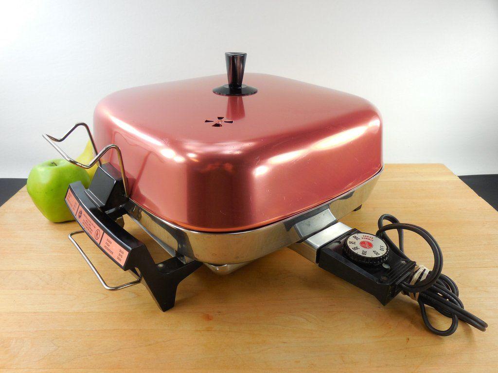 sold hoover 1970s electric fry pan skillet - model 8661
