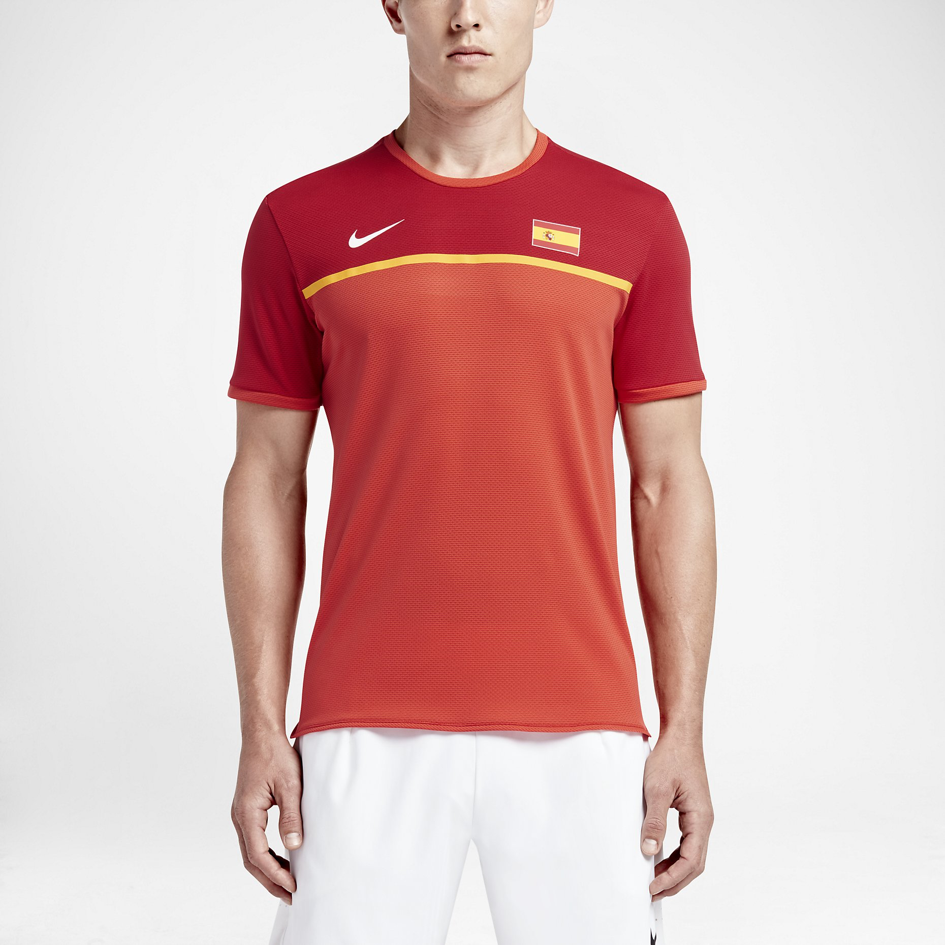 Nike Court AeroReact Rafael Nadal Challenger Mens Tennis Shirt M Red 802209  696