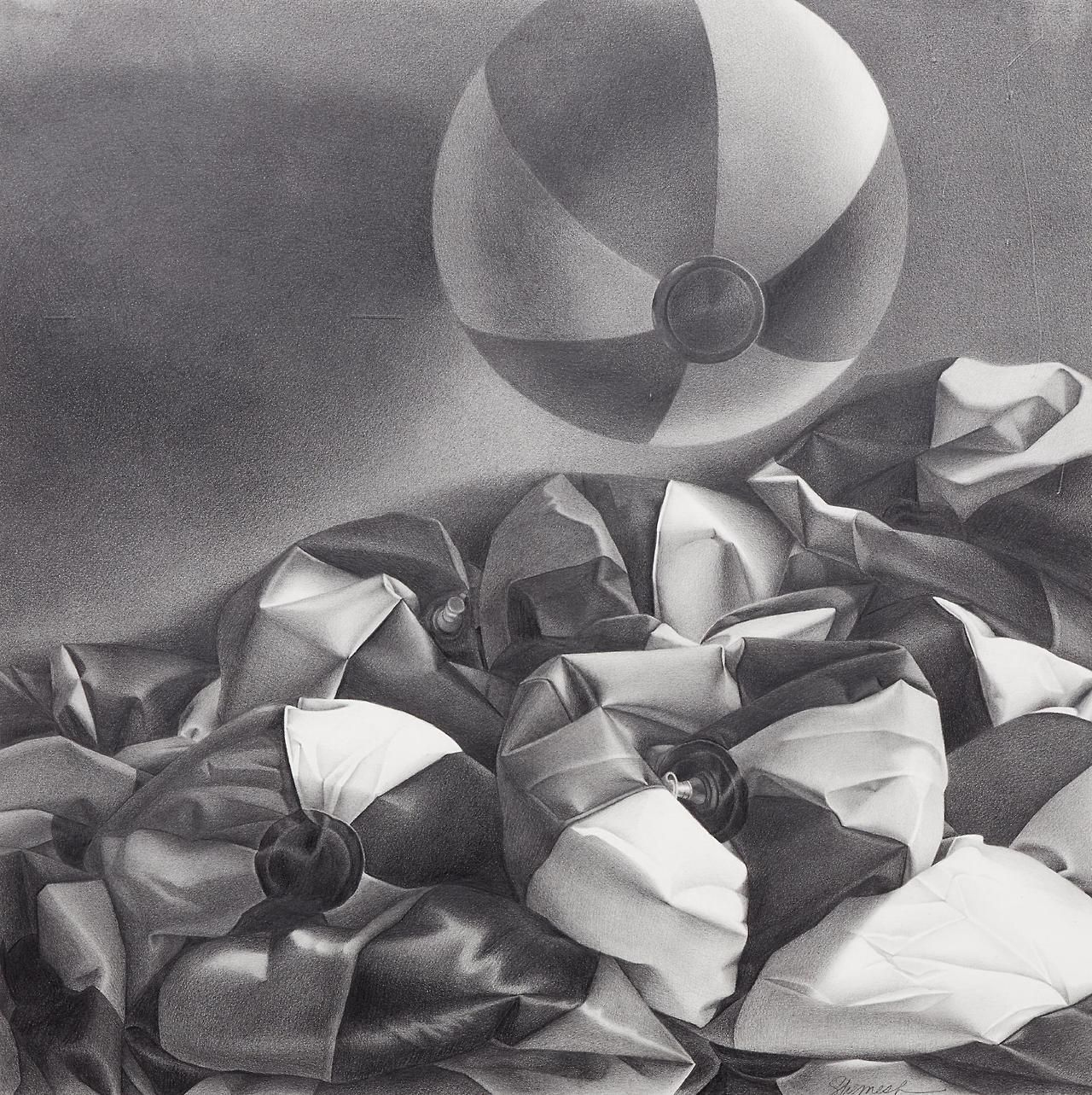 Michael Shemesh: Painting, Beach Ball, Paper