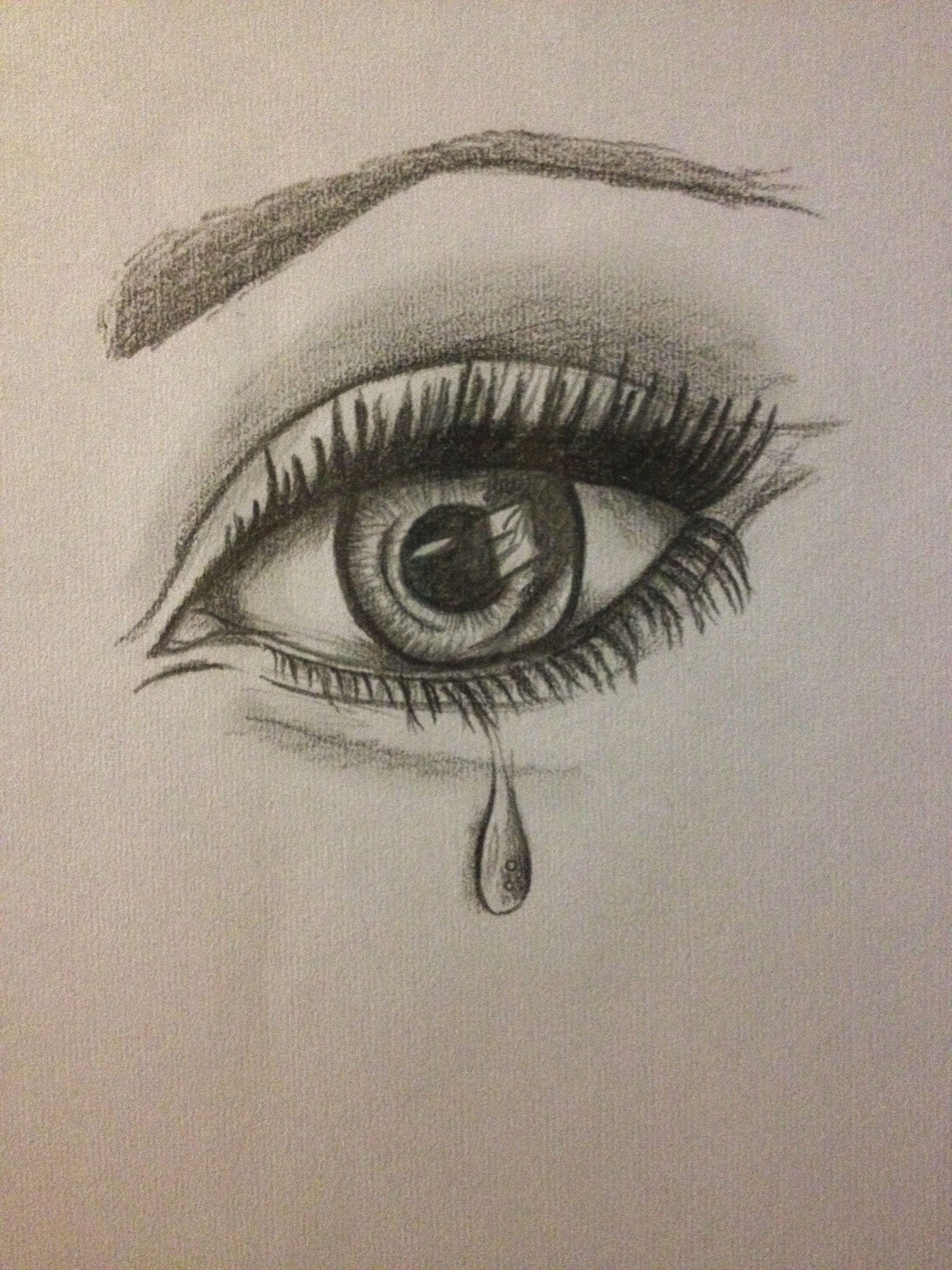 Eye Tear Drawing Emotion Pencil Drawings Of Love Realistic