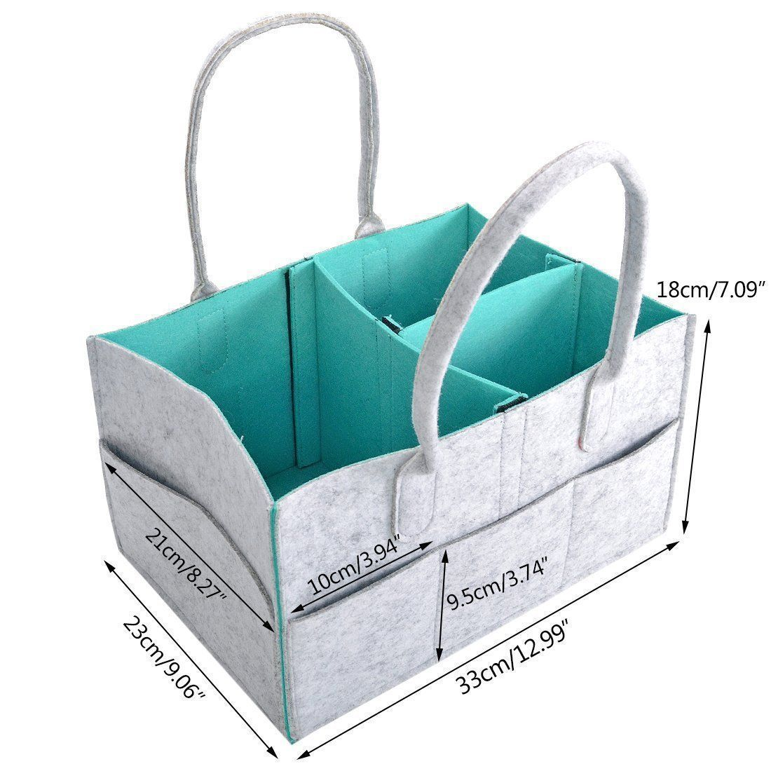 Diaper Caddy by My GOGO Baby Nursery Diaper Tote Bag Large Portable ...