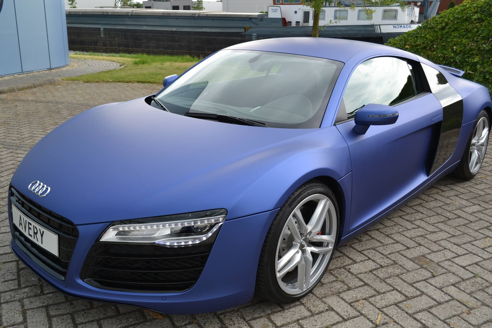 Audi r8 wrapped in high performance avery dennison supreme