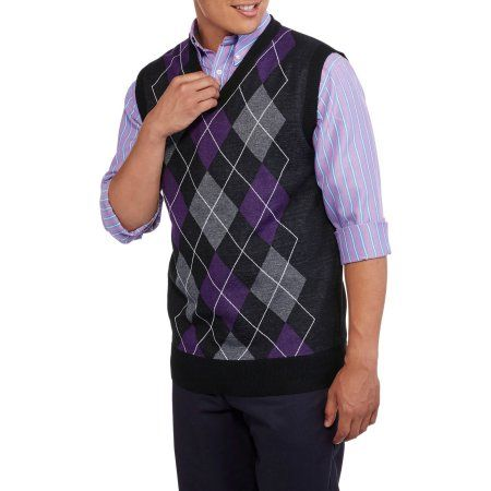 Ten West Mens V Neck Argyle Sweater Vest Size Small Products