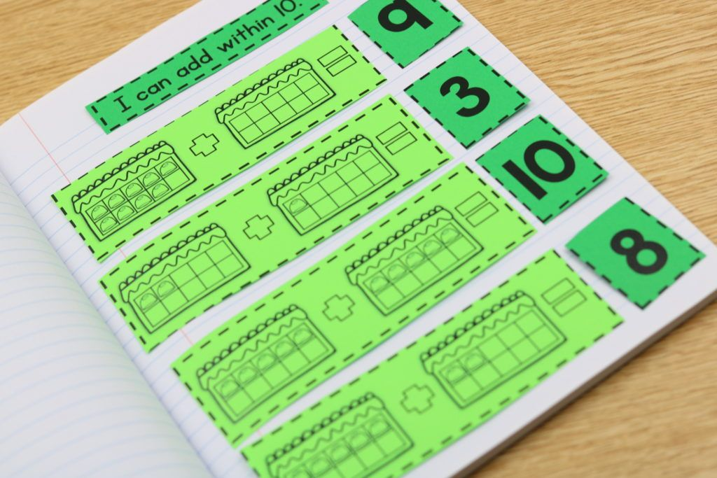 FREEBIE interactive math notebooks pages for k-1 ...