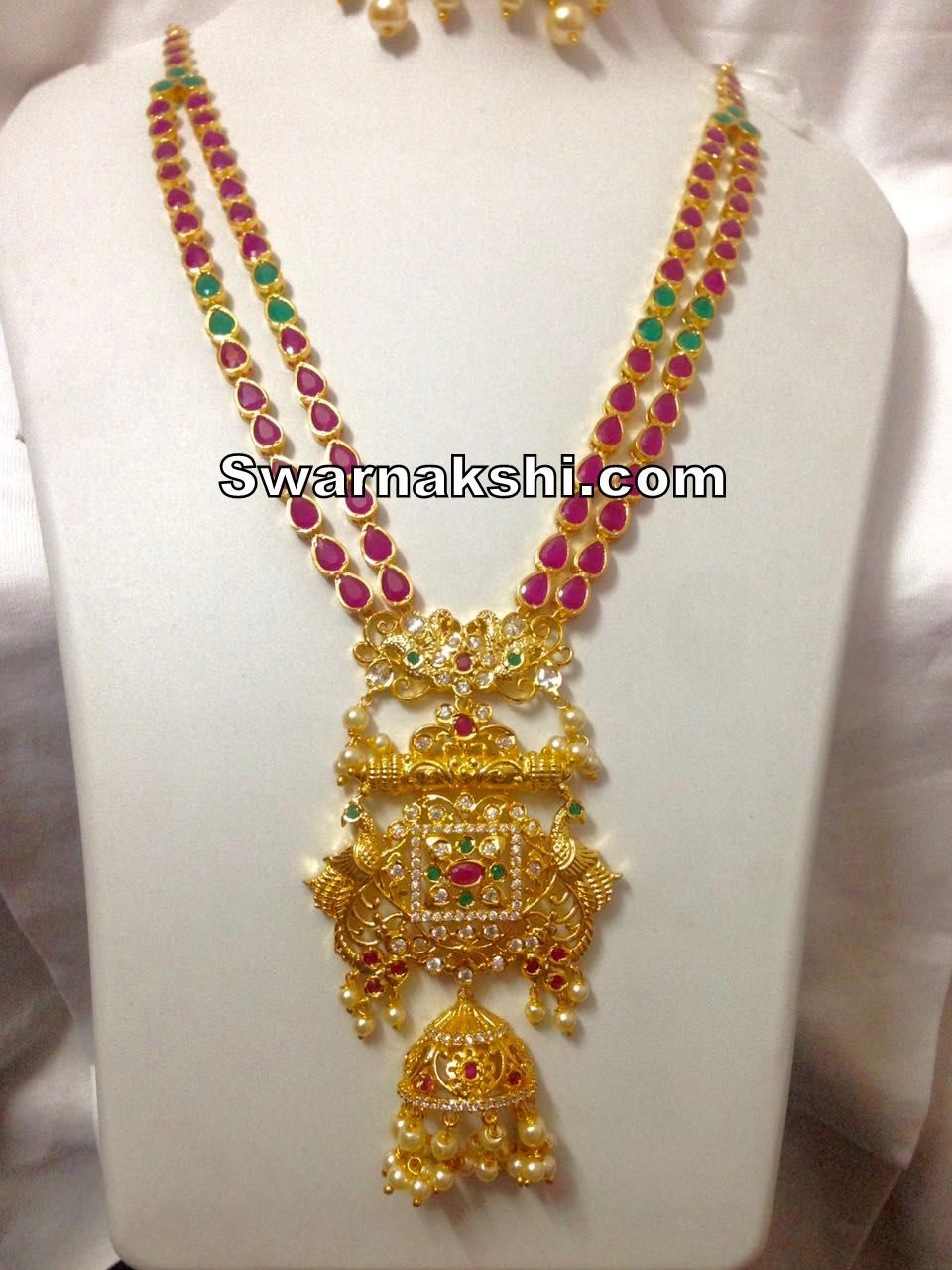88d53824b 1 gram gold ruby emerald stones long necklace collection For inquiries  please reach the seller below