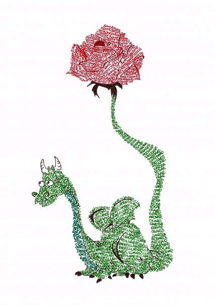 El libro y la rosa para hoy. Feliz día.