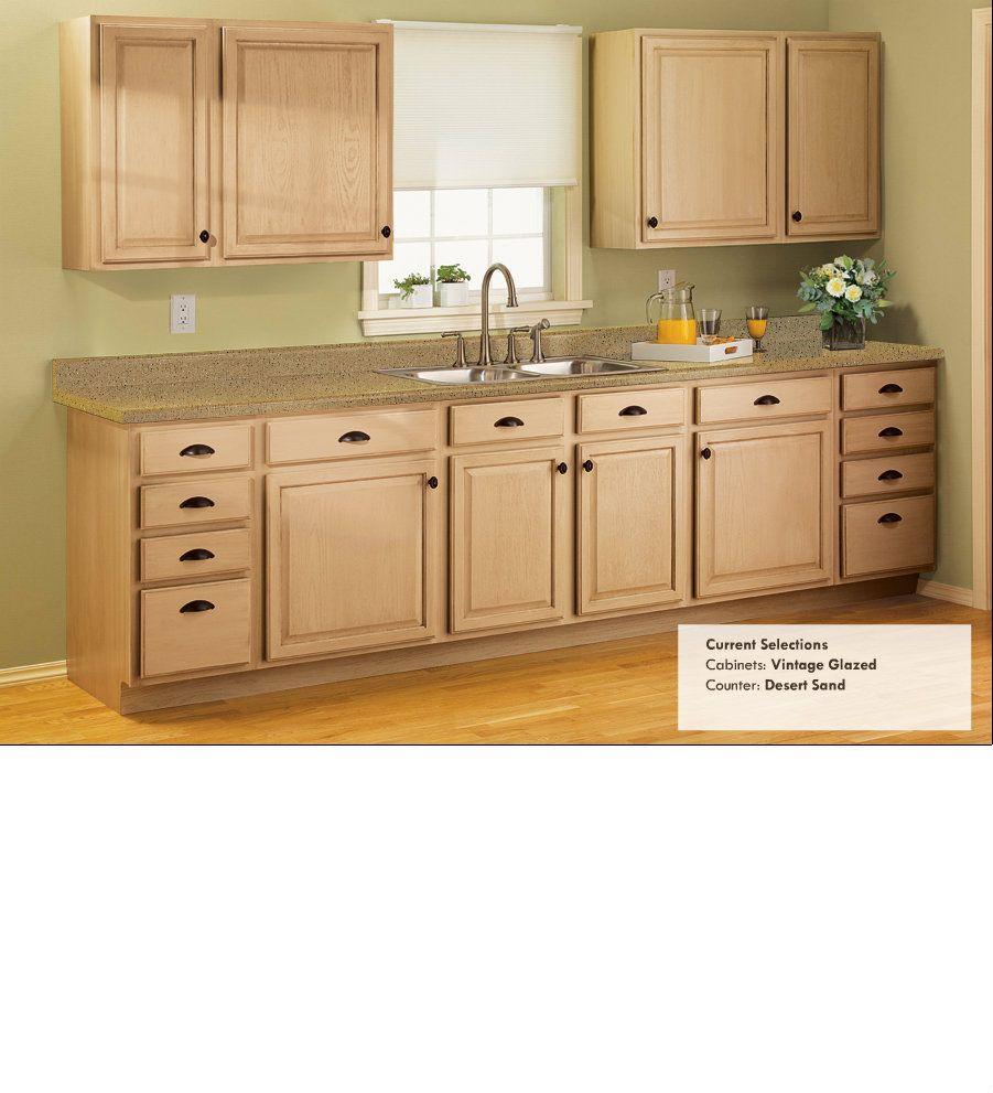 Refinish Old Kitchen Cabinets: Desert Sand Counter
