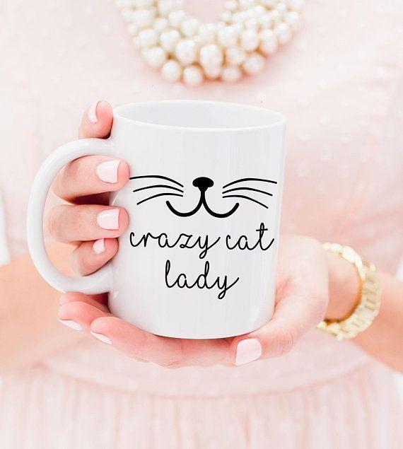 Crazy Cat Lady Tasse - Witzige Katzentasse Katze Tasse lustig Geschenkidee Crazy Cat Lady Mug Crazy Cat Lady