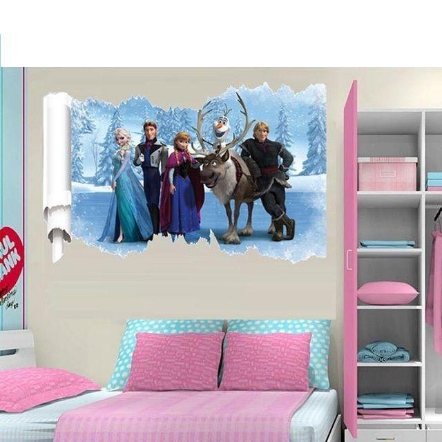 Wandtattoo Eiskönigin 3D XXL Wandaufkleber Disney ...